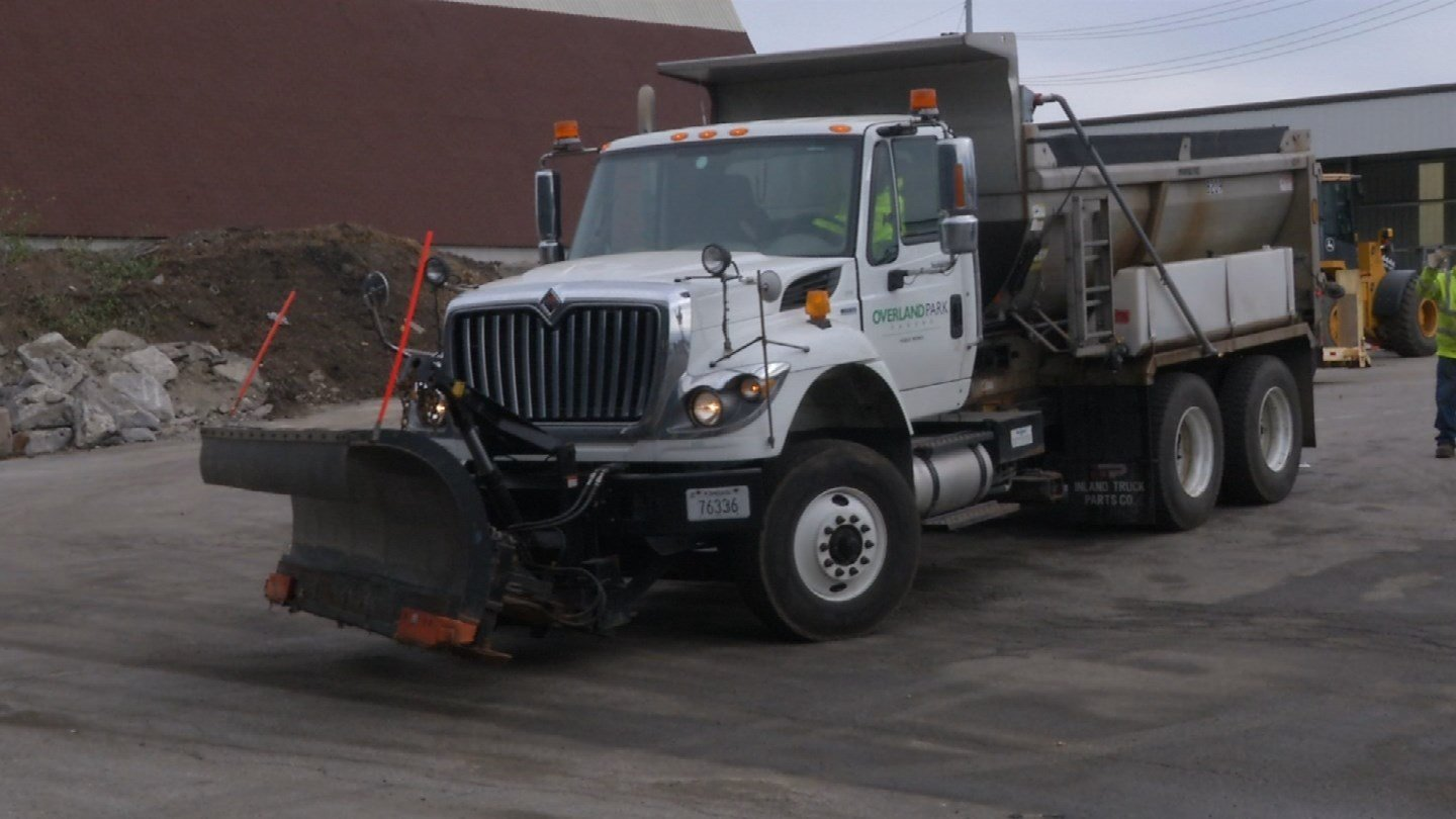 More than 100 snowplow drivers are out practicing their routes through Overland Park to prepare for the snow. (KCTV5)