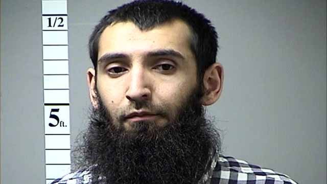 Sayfullo Saipov is accused of hopping a curb in lower Manhattan, killing 8 and injuring several others. Credit: St/. Charles Co. PD