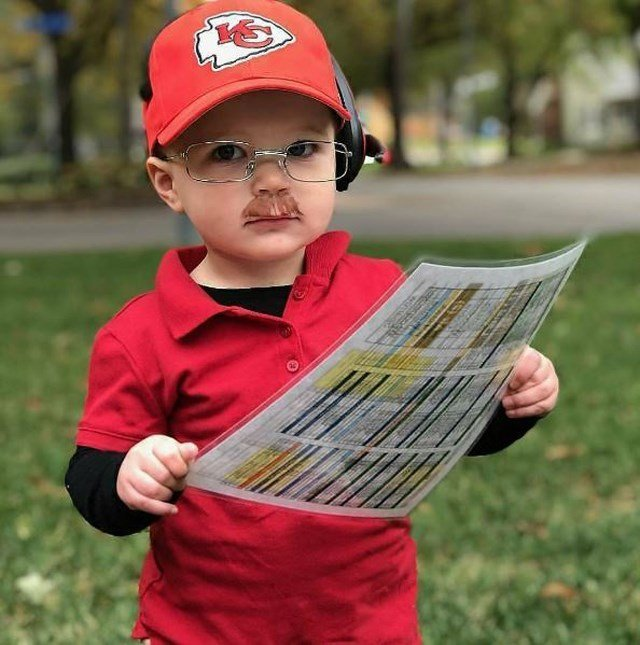 Abe Arkin is 15-months-old and was born to parents who are huge fans of the Kansas City Chiefs. (Jonny Arkin/Instagram)
