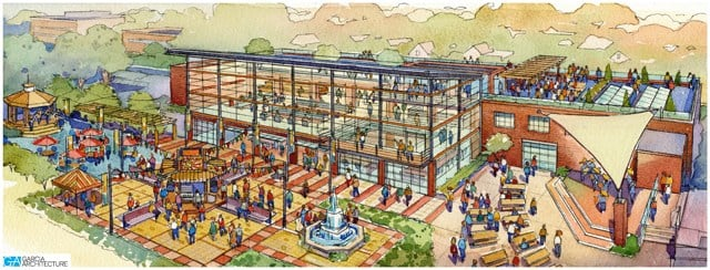 Crews will break ground on the renovations at 9 a.m.Monday. (HEDC)