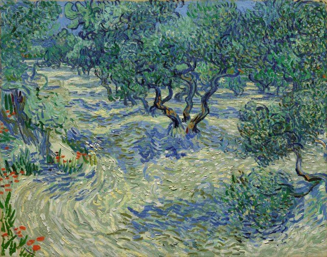 A small grasshopper has been found embedded in a Vincent van Gogh painting at a Kansas City museum. (Nelson-Atkins Museum of Art)