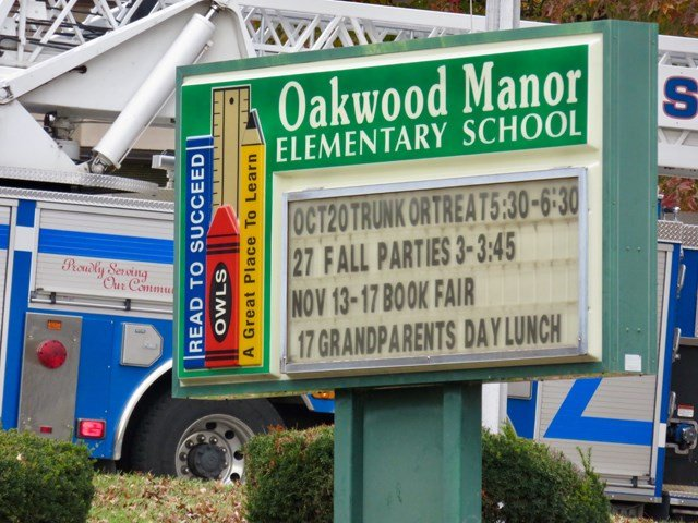 Students and staff at Oakwood Manor Elementary School were forced to evacuate on Tuesday after smoke was seen inside the building. (KCTV5)