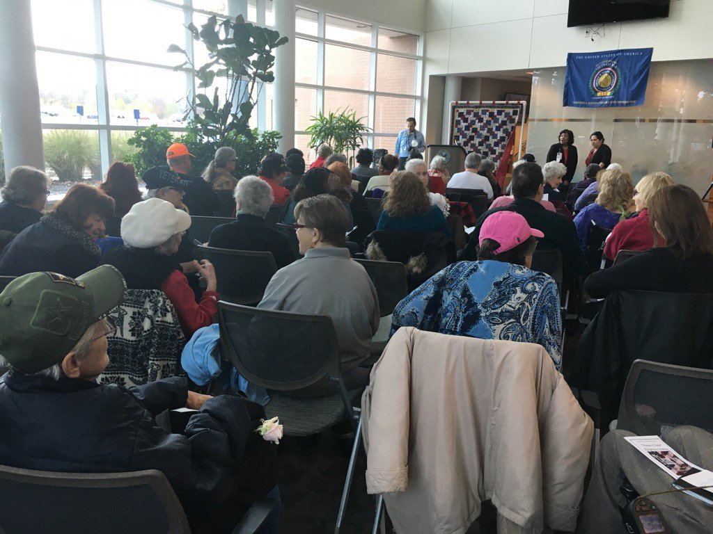 About 70 women gathered at the U.S. Department of Veterans Affairs' honor annex in Kansas City and thanked for what they have done. (Natalie Davis/KCTV5 News)