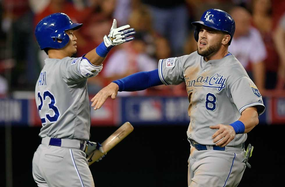 Kansas City Royals third baseman Mike Moustakas has won the American League Comeback Player of the Year Award. (AP)