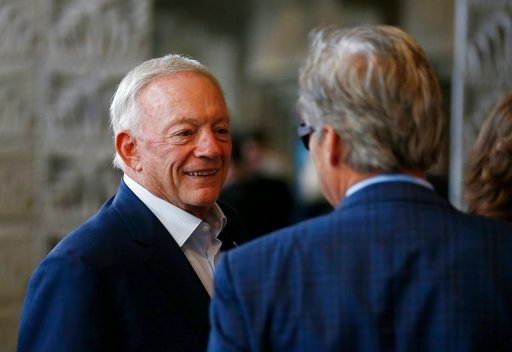 A person with knowledge of the situation says Dallas Cowboys owner Jerry Jones has threatened to sue the NFL over a proposed contract extension for Commissioner Roger Goodell. (AP File Photo)