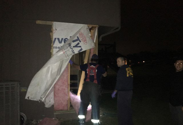 People inside the house say the crash shook the entire home. (KCTV5)