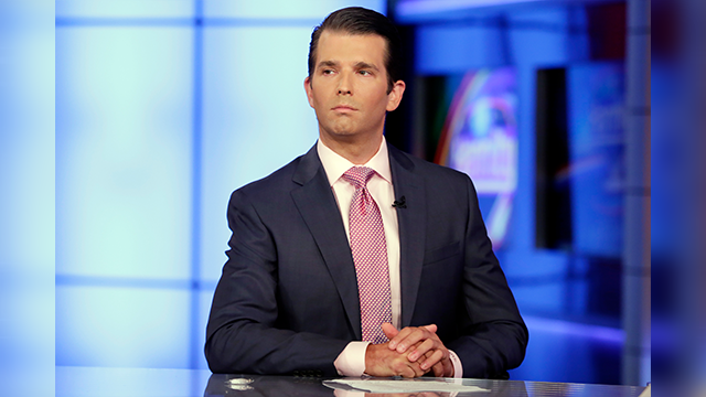 (AP Photo/Richard Drew) Donald Trump Jr. is interviewed by host Sean Hannity on his Fox News Channel