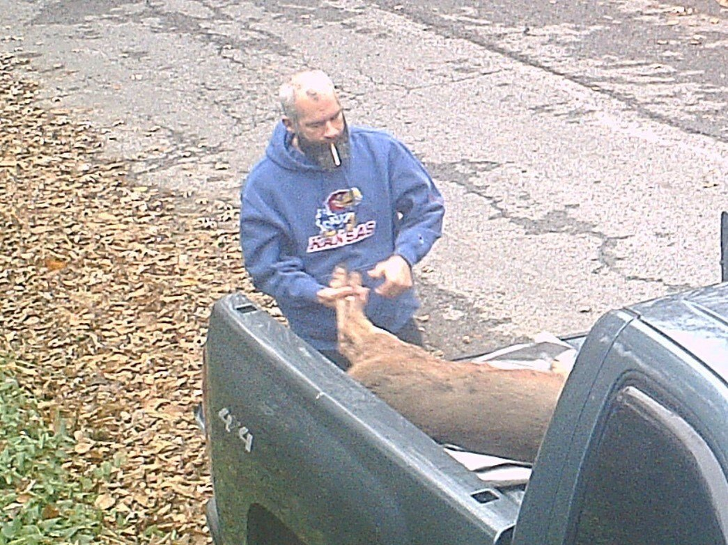Illegal dumping investigator Alan Ashurst says the man dumped the deer in the brush near 22nd Terrace and Vine on Monday morning. (City of Kansas City, MO)