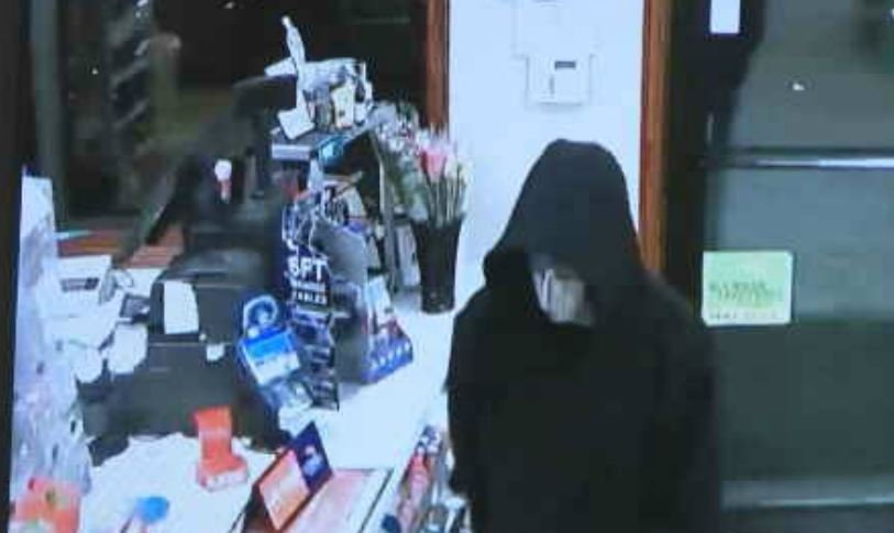 Frightening moments were caught on camera during an armed robbery at a Casey's location in Basehor.