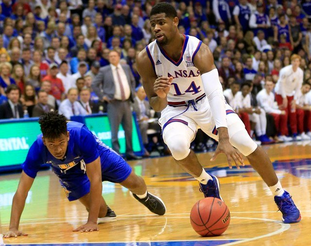 Kansas Athletics is offering a lottery system for 20 free tickets for every men's basketball game for low-income, first-generation students and Pell Grant recipients. (AP)