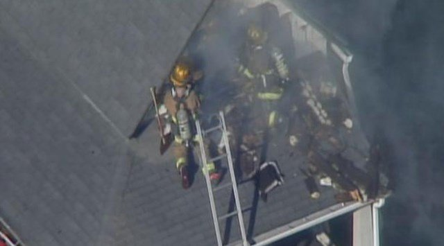 Officials say no one was hurt by the flames. (KCTV5)