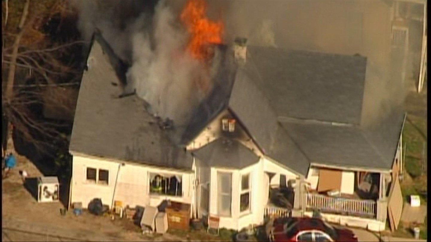 It's been a busy day for fire crews in Kansas City KS. (Chopper5)