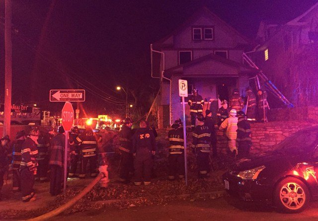 The fire started at about 5 a.m. at a home in the 4200 block of Locust Avenue. (KCTV5)