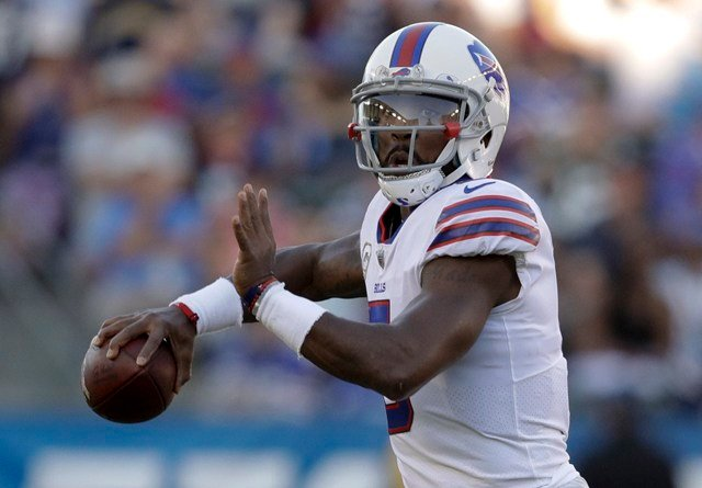 Taylor, who is 20-18 in 2½ seasons in Buffalo, was benched after going 9 of 18 for 56 yards through 55 minutes in a 47-10 loss to the New Orleans Saints on Nov. 12. (AP)