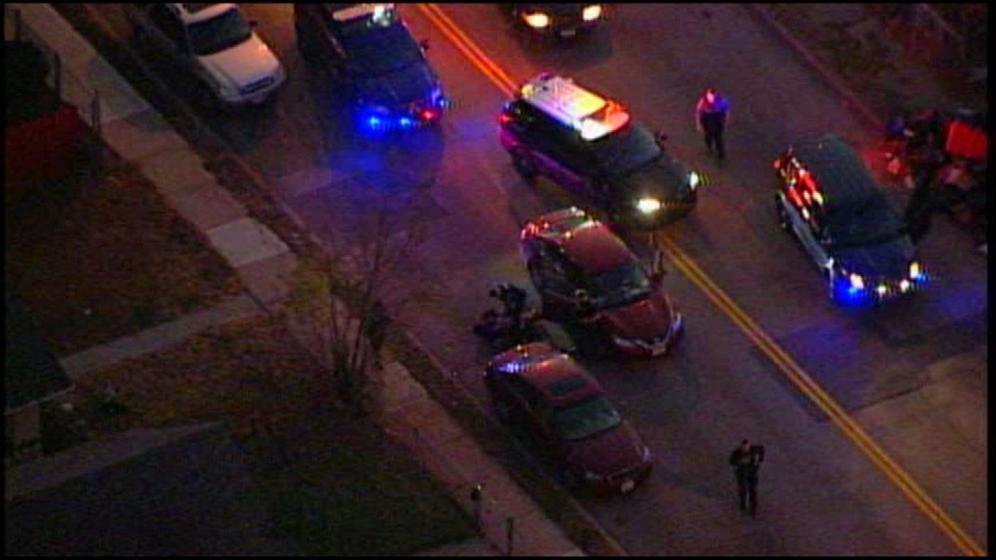 A police pursuit that started in KCK at The Legends ended at 38th and Indiana in KCMO. (KCTV5)