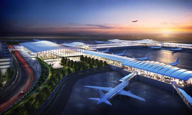 Edgemoor has released a series of design renderings for the new single-terminal KCI. (Edgemoor)