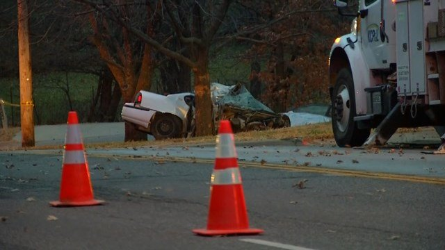 A woman died early Monday morning after she was ejected from a car in Shawnee. (KCTV5)