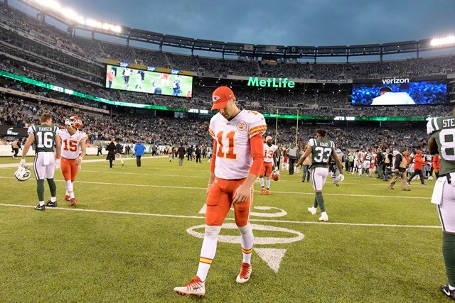 Andy Reid's squad is 6-6 now after losing a tough one to the New York Jets on Sunday, 38-31. It was the Chiefs' sixth loss in seven games. (AP)