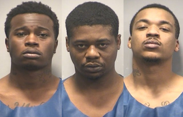 Chrizion Banks, Cedric Ford and Trevontae Stewart were all caught after a surveillance and sting raid. (KCPD)