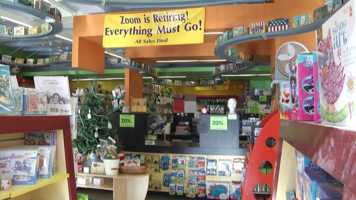 Everything must go at Zoom, a toy store on the Plaza, as they prepare to go out of business in the coming weeks. (KCTV5)