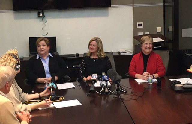 At a press conference on Tuesday, council members Teresa Loar, Katheryn Shields and Heather Hall said it's time for more transparency. (KCTV5)