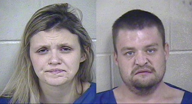 Caitlyn Riffle, 24, of Independence, and Patrick Powell, 29, of Greenwood, have been charged with first-degree murder and armed criminal action in the homicide case of Rodney Thurber. (Jackson County Jail)