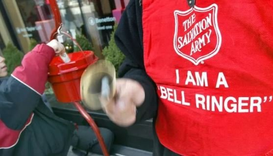 A thief in Gladstone took off with a red Salvation Army kettle filled with money. (CBS File Photo)