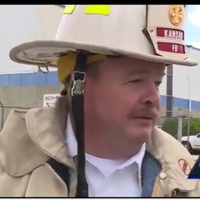 Fire Chief John Paul Jones is retiring Wednesday after over three decades of service with the Kansas City Kansas Fire Department. (John Paul Jones/Twitter)
