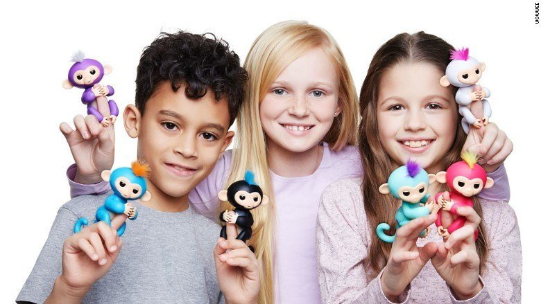 Fingerlings ($15) are, by far, the hottest toy of the year, and, therefore, the most difficult to find. (CNN)