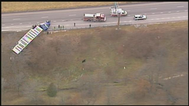 The scene of the crash. (Chopper5/KCTV)
