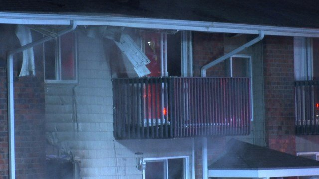 All residents were evacuated from the building. No one was hurt but 12 apartments were damaged by the flames. (KCTV5)