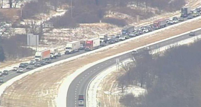 Southbound I-435 is closed south of Route 45. Traffic is being diverted onto Route 45. (KCTV5)