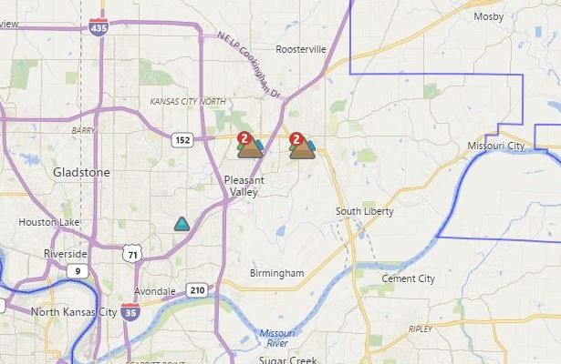(KCP&L Outage Map)