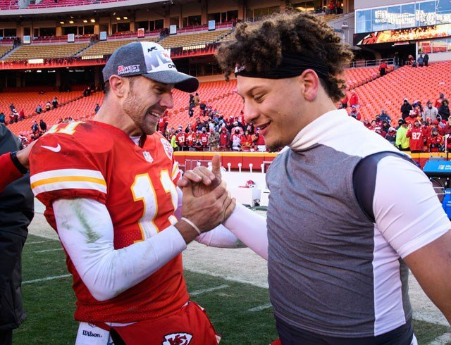 First-round draft pick Patrick Mahomes II will make his NFL debut at quarterback for the Kansas City Chiefs when they play an otherwise meaningless game against the Denver Broncos on Sunday. (AP)