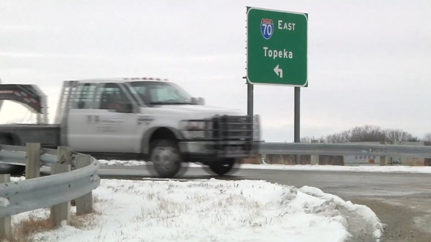 Icy conditions on Interstate 70 are being blamed for a Kansas accident that killed four people after the pickup truck they were in fell off a bridge. (CBS)