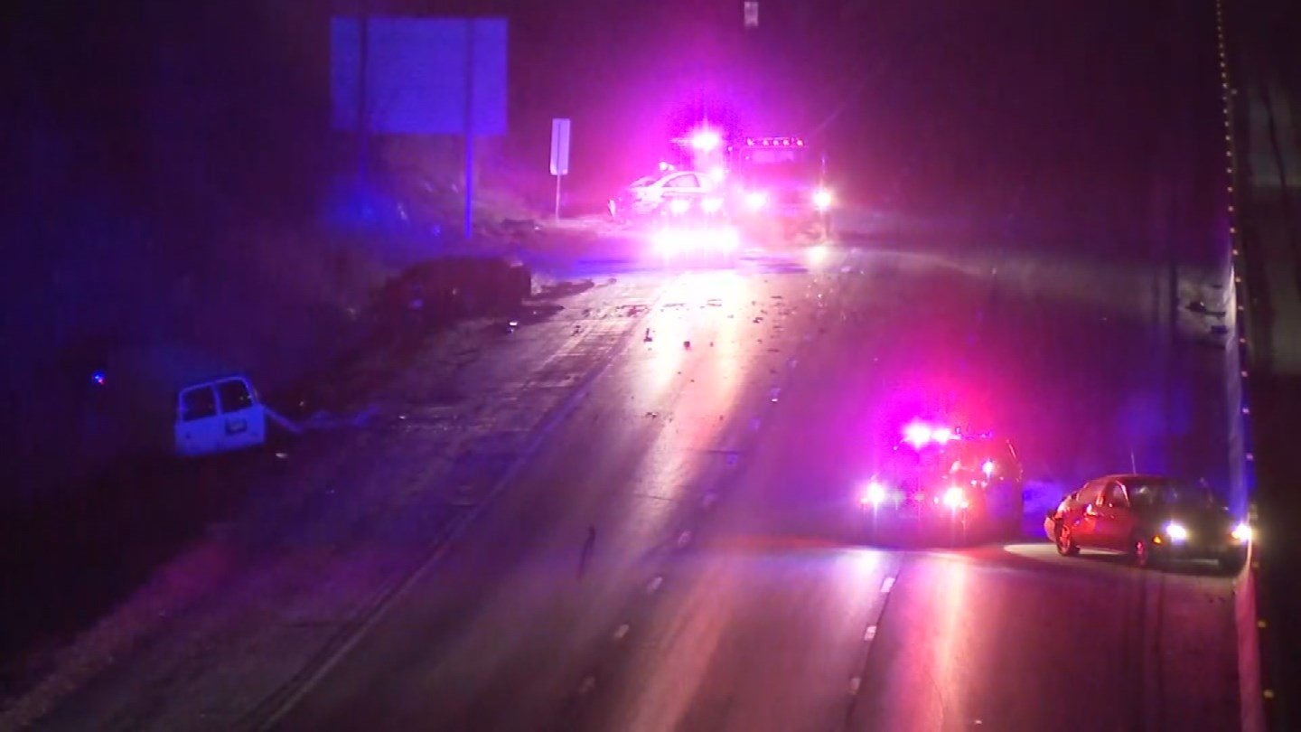 Police are investigating a crash that had I-70 closed for much of the morning. (KCTV5)