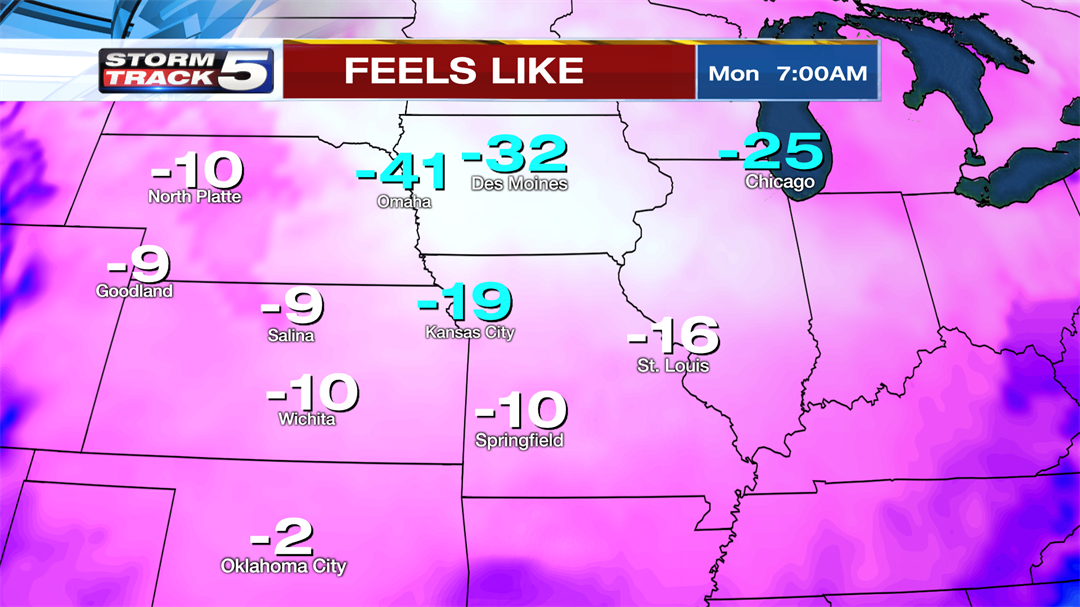 Brutally cold air will move in this weekend and could result in record low temperatures for New Years Day. (KCTV5)