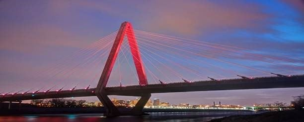 In honor of the Kansas City Chiefs making the playoffs, the Christopher S. Bond Bridge over the Missouri River will shine brightly in red lights. (MoDOT)