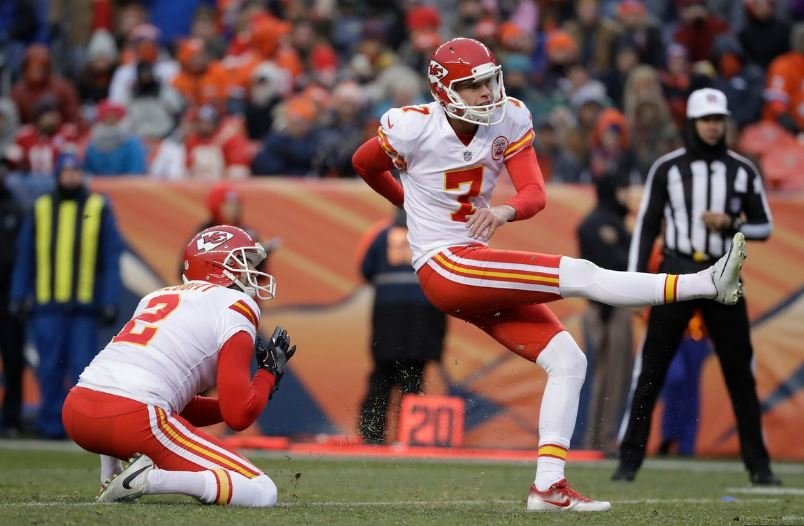 In Kansas City's final game, Butker capped off his strong month, and incredible season, with a game-winning 30-yard field goal against the Denver Broncos. (AP)