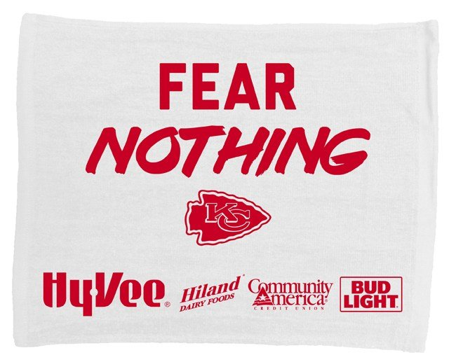 Hy-Vee the presenting partner of the Chiefs Playoffs will be giving away a rally towel to all fans as they enter the Arrowhead Stadium gates