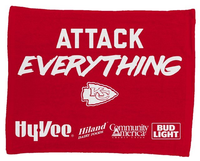 Hy-Vee, the presenting partner of the Chiefs Playoffs, will be giving away a rally towel to all fans as they enter the Arrowhead Stadium gates. (KCTV5)