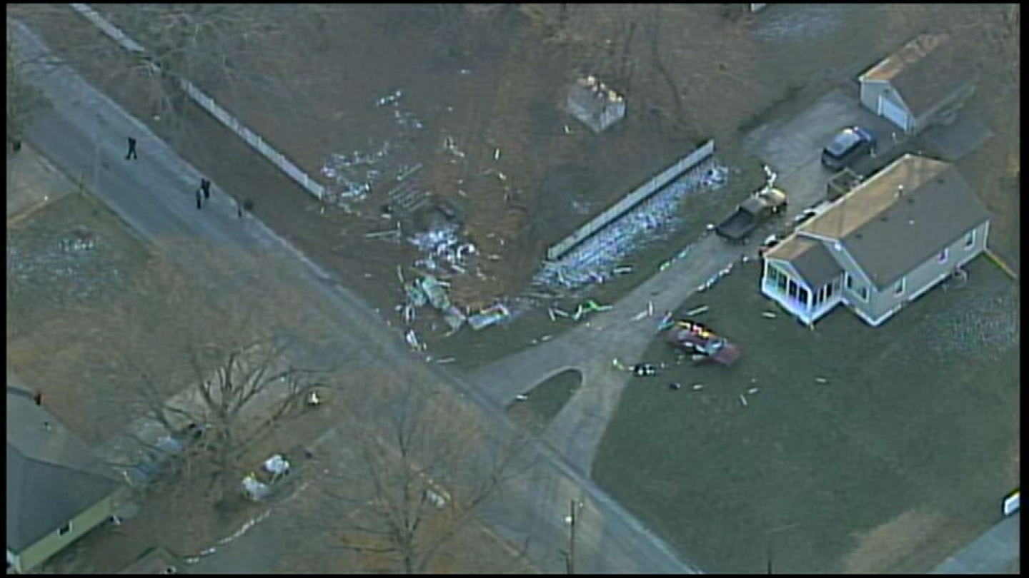 The crash happened at about 3:46 p.m. in the area of 135th and 15th Streets. (Chopper5/KCTV)
