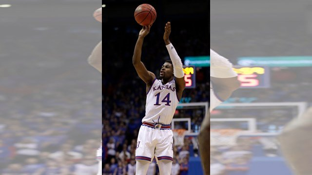 Malik Newman scored a career-high 27 points, Svi Mykhailiuk added 23 and No. 12 Kansas staved off an upset bid by Iowa State. (AP)