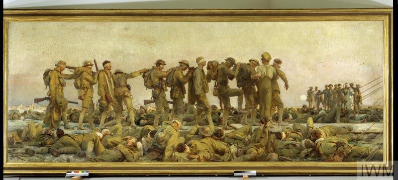 The National World War I Museum and Memorial in Kansas City is preparing to display a John Singer Sargent painting depicting British soldiers blinded by a gas attack on the Western Front. (Imperial War Museums)