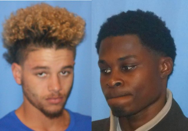 Triston D. Withers, 19, left, and Daquan M. Tolefree, 20, both of Blue Springs, face charges of second-degree murder, attempted robbery and two counts of armed criminal action.(Blue Springs Police Department)
