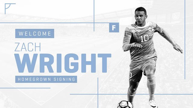 Sporting Kansas City has signed 22-year-old forward Zach Wright as a home-grown player. (Sporting KC/Twitter)