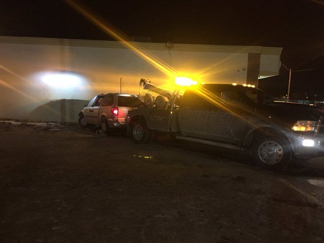 Police say they received a call about an injury accident at about 4 a.m. and found a damaged power pole and a van inches from a business near Independence and Oakley Avenues. (KCTV5)