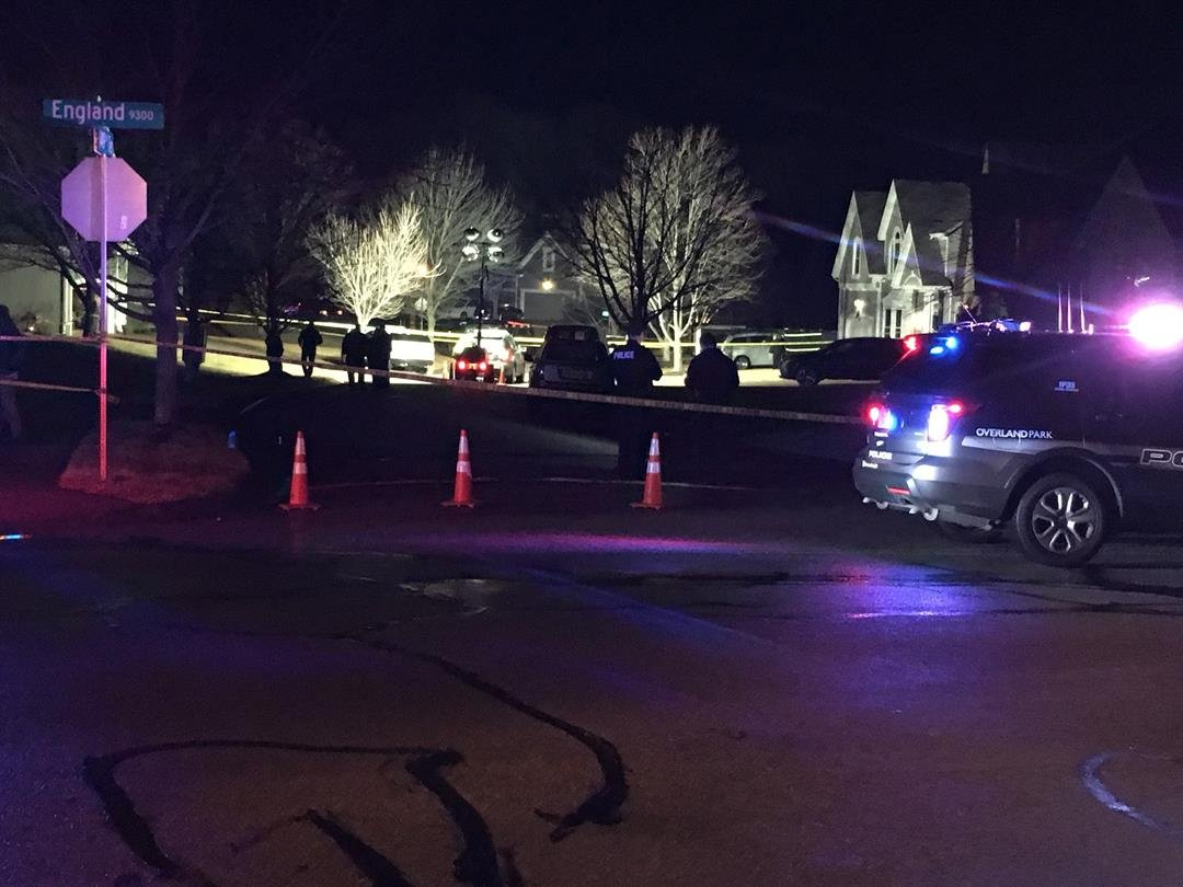 One person is dead after an officer-involved shooting near the area of 149th Terr. and England St. in Overland Park. (Grady Reid/KCTV5)