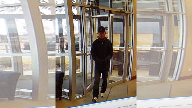 Authorities say he was wearing blue jeans with a blue cap, a blue sports pullover, a blue cap and white shoes. (FBI)