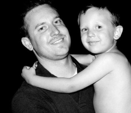 Joshua West and his 8-year-old son, Nate West, were badly injured in a crash early Sunday morning. (Submitted)